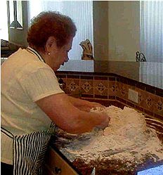 Nonna Making Bread